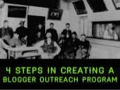 Four steps to creating a blogger outreach program