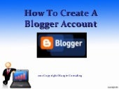 Blogger tutorial