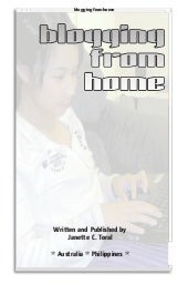 Blogging from Home Book by Janette Toral