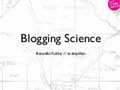 Blogging Science