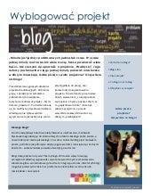 Blog w projekcie edukacyjym