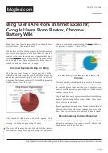 Bing users are from Internet explorer google users from firefox chrome battery wiki