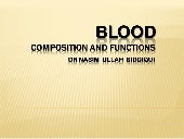 Blood & its functions