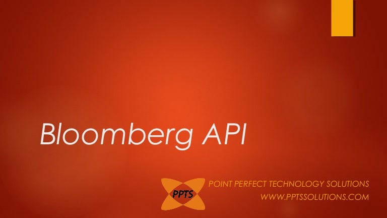 Bloomberg API Open Source Development and Solution Providers India
