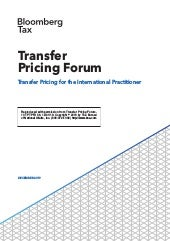 Bloomberg Tax Transfer Pricing Forum
