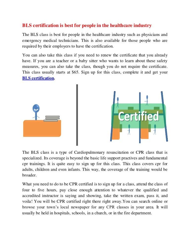 bls certification healthcare industry