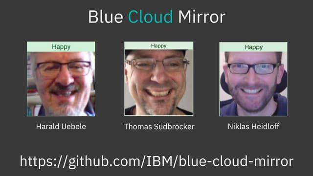 Blue Cloud Mirror