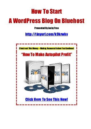 How To Bluehost Install WordPress Quickly And Easily