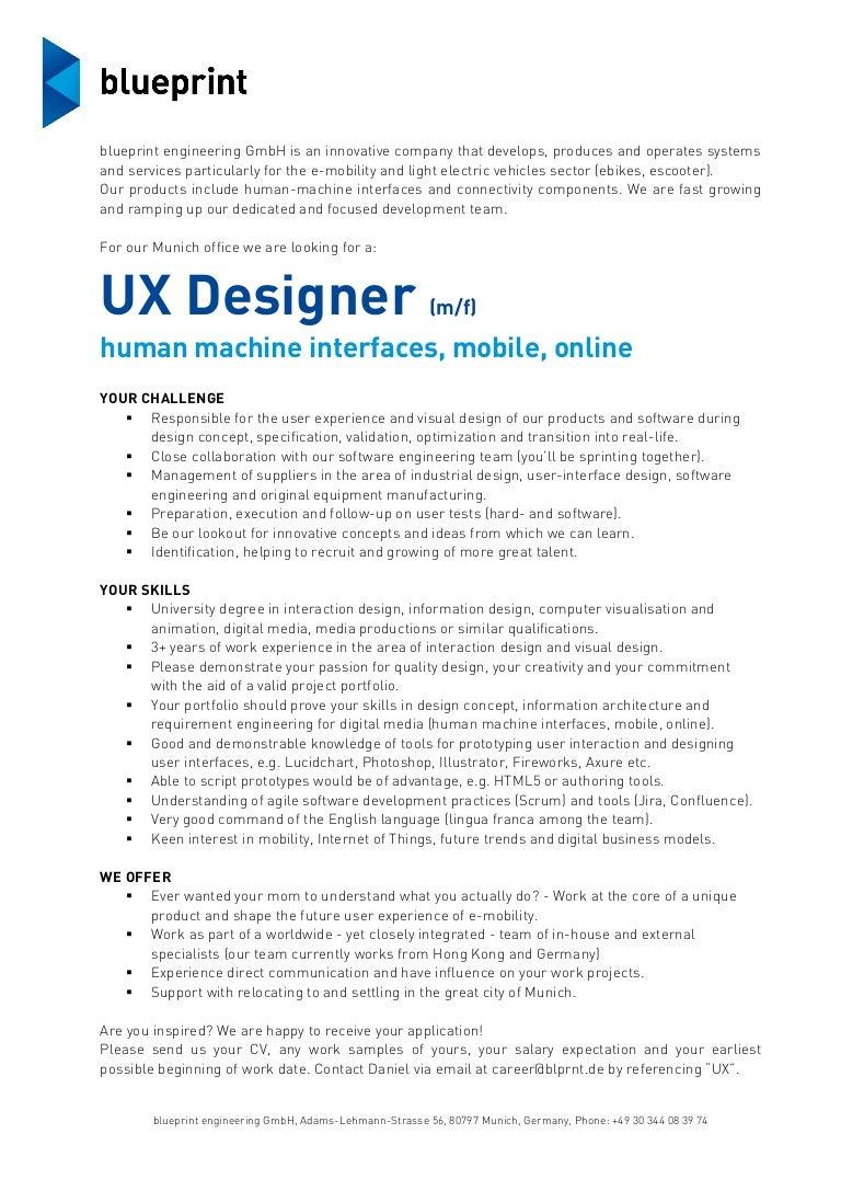 Job description blueprint ux designer munich malvernweather Choice Image