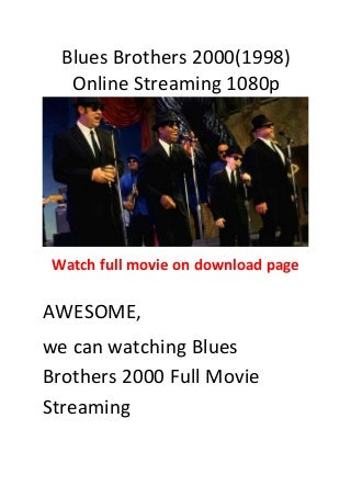 Blues brothers 2000(1998) the best action comedy movies
