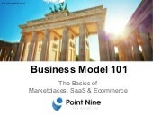 Business Model 101: The Basics of Marketplaces, SaaS & Ecommerce