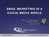 Email Marketing in a Social Media World