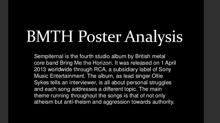 Bmth Poster Analysis