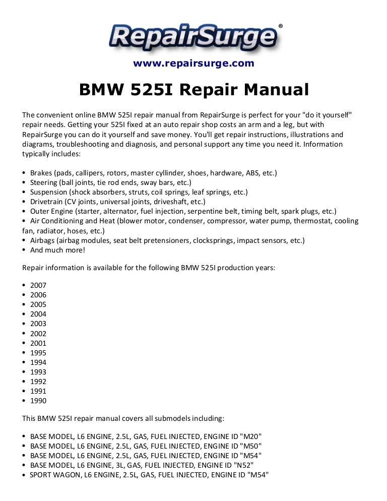 2007 bmw 525i brake diagram bmw 525i repair manual 1990 2007  bmw 525i repair manual 1990 2007