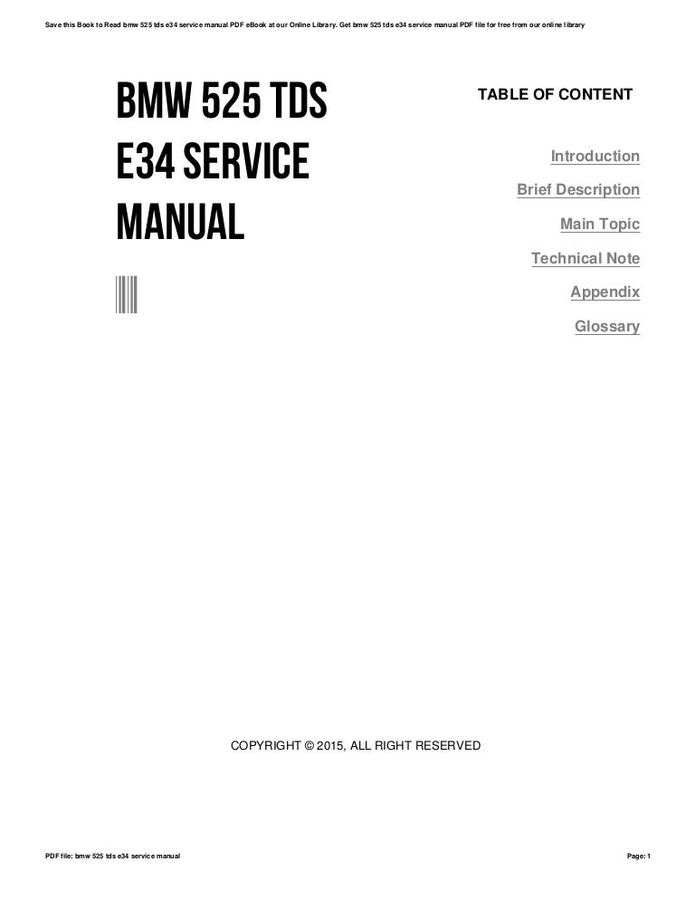 E34 service manual pdf
