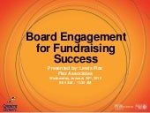 Board Engagement for Fundraising Success (January 28, 2015)