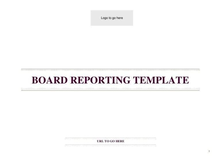 board report template word