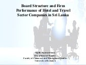 board composition and firm performance Board diversity and firm performance according to becker (1964), human capital theory addresses the role of an individuals education, experience, and skills that will be of use to the.