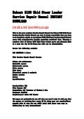 Bobcat s175, s185 skid steer loader service repair manual instant dow…
