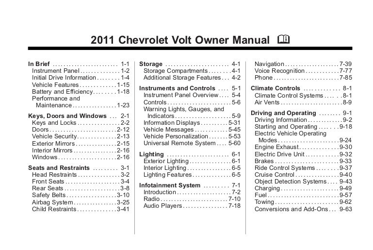 Cell phone owners manual c3 rs603 array bob hook chevrolet 2011 chevy volt owners manual rh slideshare fandeluxe Images