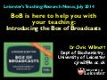BoB is here to help you with your teaching: introduction to the Box of Broadcasts