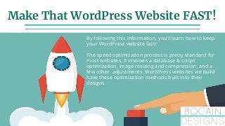 How to make WordPress Faster in 2019
