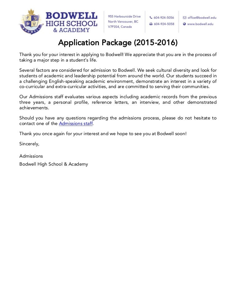 A letter from canada englisho aca choice image diagram writing bodwell high school application package2015 2016 sciox choice image sciox Image collections