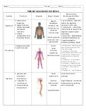 Human Body Systems Worksheets Pdf Worksheets for all   Download ...