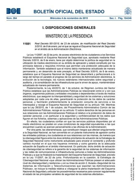 Esquema Nacional de Seguridad publicado en el BOE