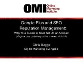 Google+ & SEO Reputation Management