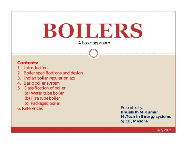 Boilers (A basic approach)