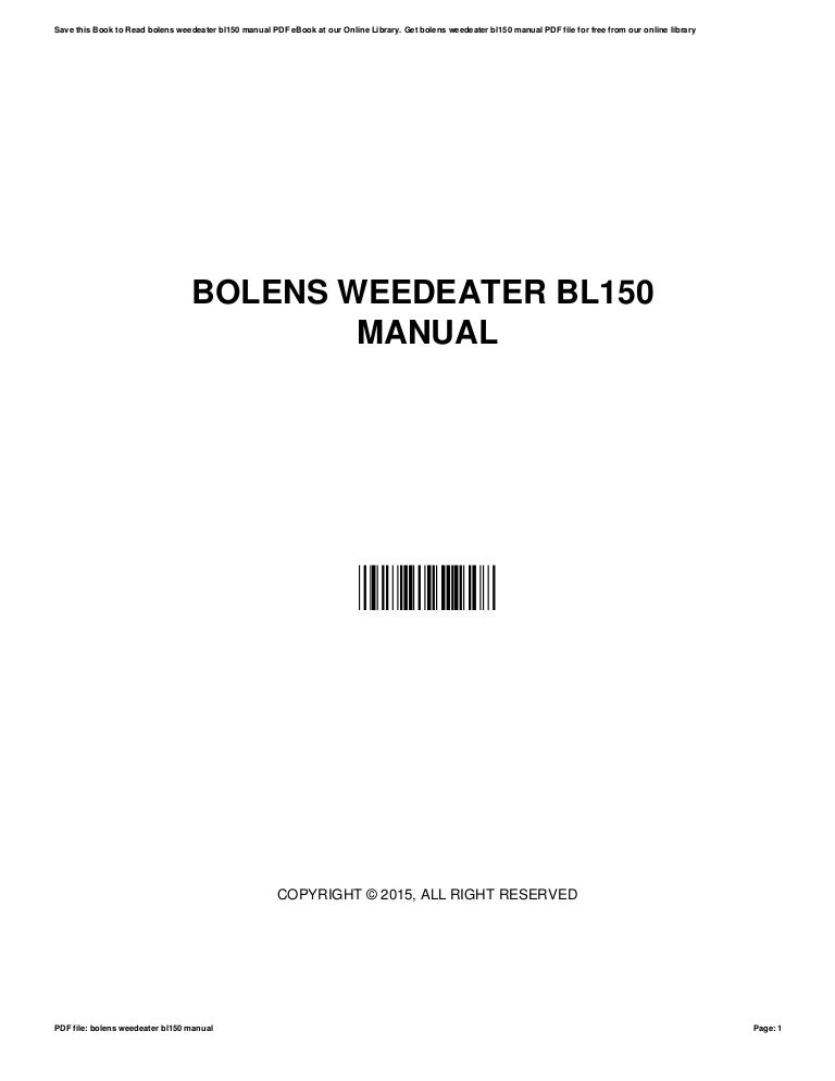 How to remove the spool on a bolen bl110 weed eater? Fixya.