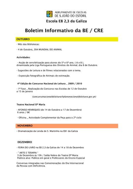 Boletim informativo be_out_nov_dez_2010