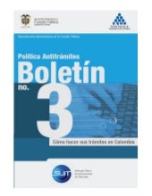 Boletín 3 política antitrámites dafp esap