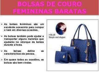 Bolsas femininas baratas com frete gratis