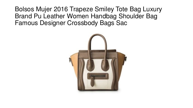388ab6618752 Bolsos mujer 2016 trapeze smiley tote bag luxury brand pu leather wom…
