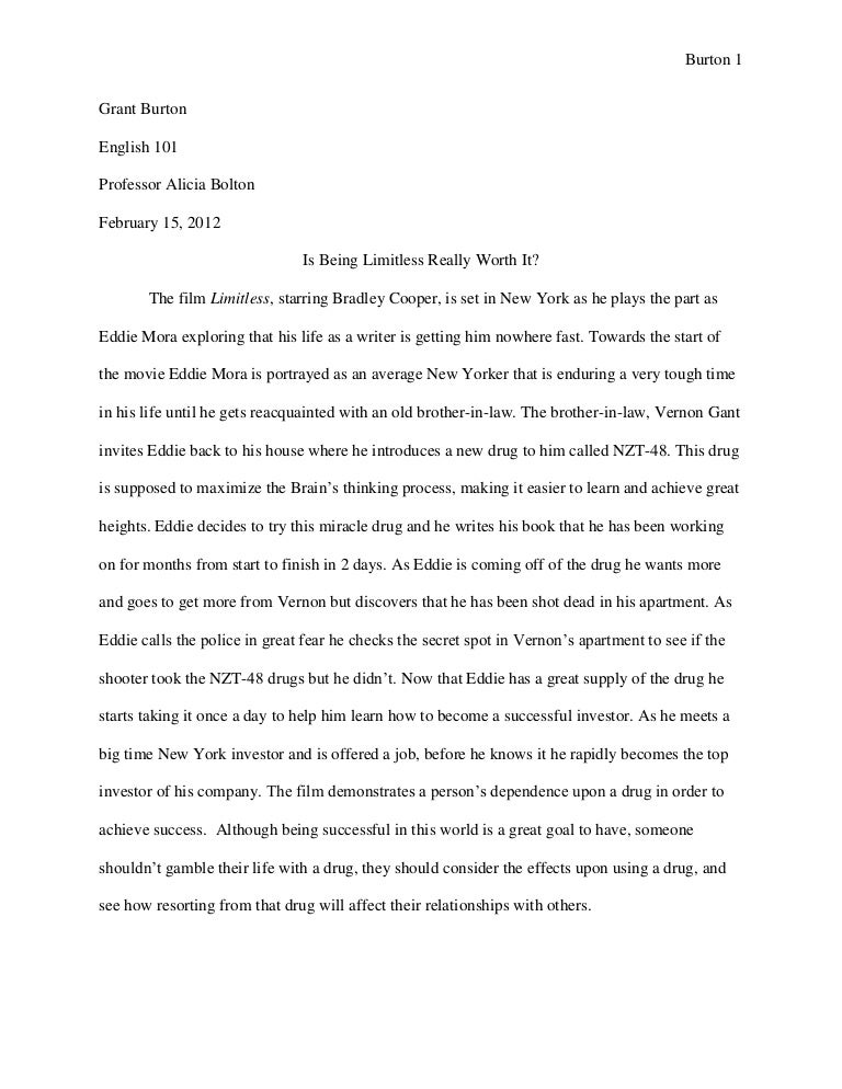 bolton movie evaluation essay g burton - Short Argumentative Essay Examples