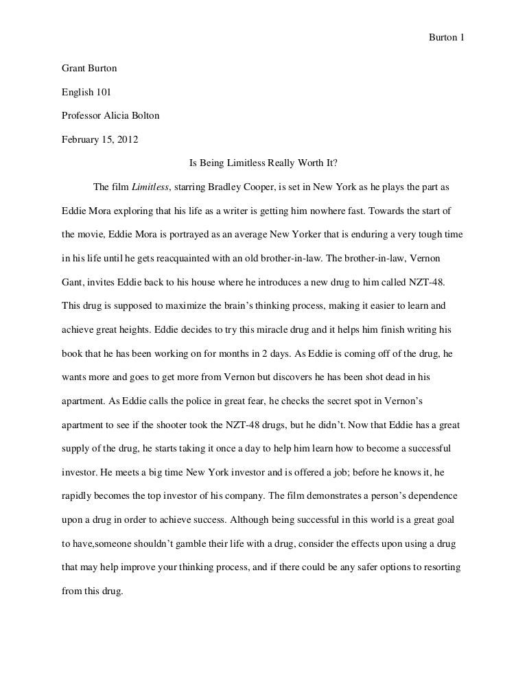 Attractive Bolton Movie Evaluation Essay G Burton