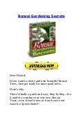 Bonsai Gardening Secrets Book
