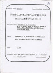 Proposal for appoval of fees for th academic year 2014-15