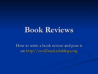 Doubt while writing a book review...?
