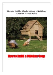 How to Build a Chicken Coop - Building Chicken House Plans