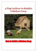4 Tips in How to Build a Chicken Coop