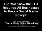 Social Media Ethics Made Easy