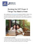 Booking the OET Exam: 5 Things You Need to Know