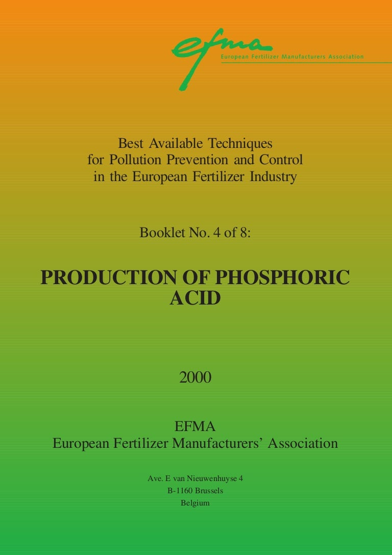 Booklet Nr 4 Production Of Phosphoric Acid1 Nitric Acid 1 Kg