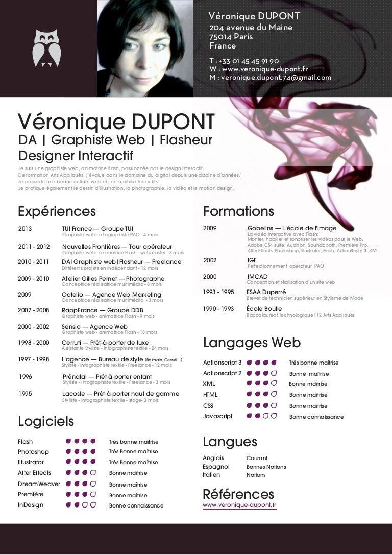 book cv v u00e9ronique dupont