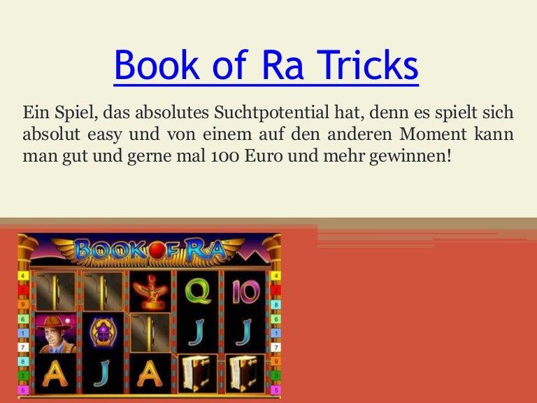 Book Of Ra App Tricks