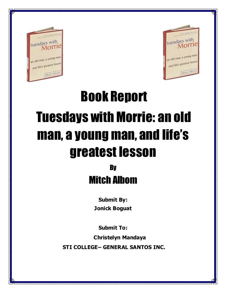 book report tuesday morrie