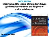 Book Review: E-Learning and the Science of Instruction